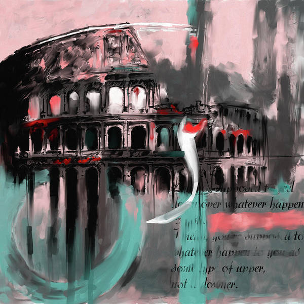 Amphitheater Wall Art - Painting - Colosseum 432 2 by Mawra Tahreem