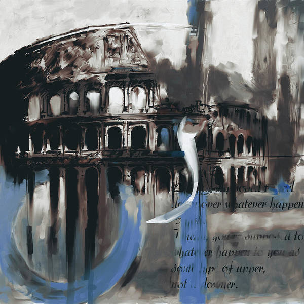Amphitheater Wall Art - Painting - Colosseum 432 3 by Mawra Tahreem