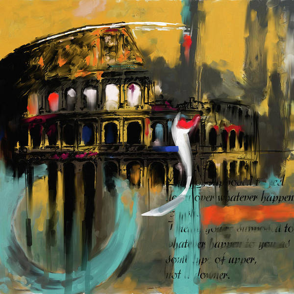 Amphitheater Wall Art - Painting - Colosseum 432 4 by Mawra Tahreem