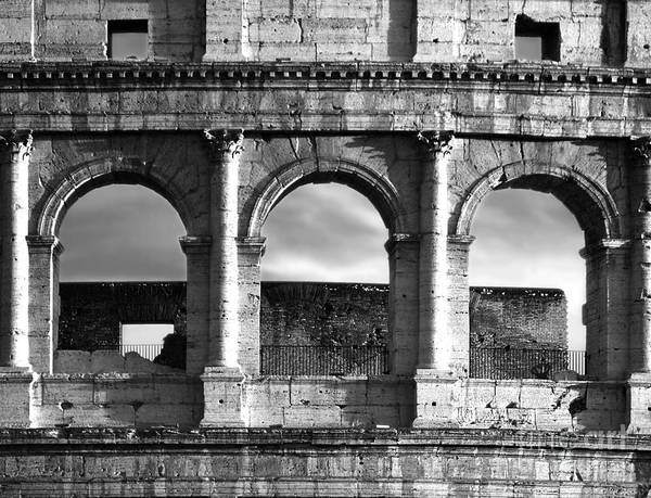 Expanse Photograph - Colosseum Arched Windows by Stefano Senise