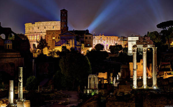 Photograph - Colosseum At Night 2 by Weston Westmoreland
