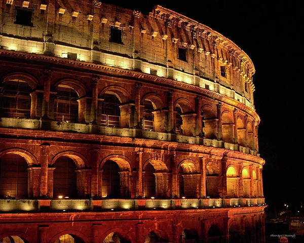 Photograph - Colosseum At Night by Coleman Mattingly