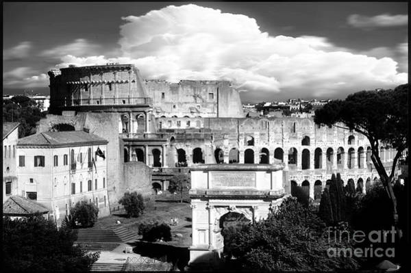 Wall Art - Photograph - Colosseum From Roman Forums Black And White  by Stefano Senise