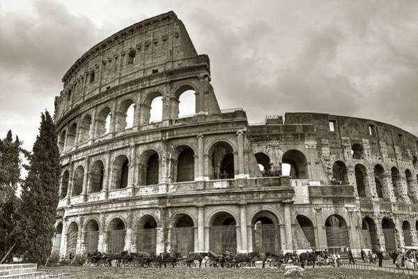 Cab Photograph - Colosseum  Rome by Joana Kruse