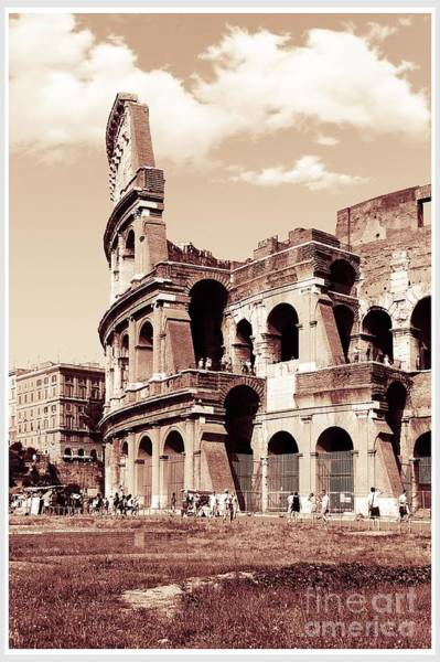 Wall Art - Photograph - Colosseum Toned Sepia by Stefano Senise