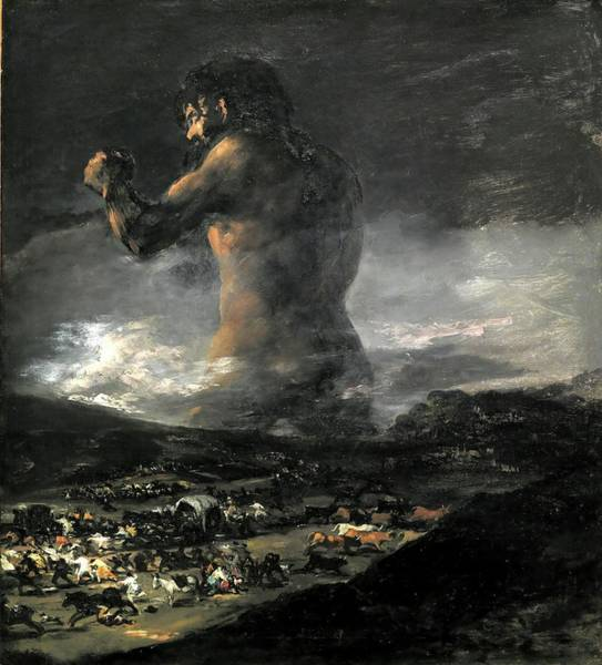 Painting - Colossus by Francisco de Goya