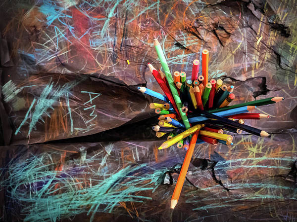 Photograph - Colour And Scribble by Nick Bywater