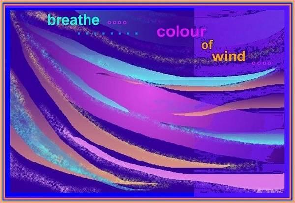 Digital Art - Colour Of Wind by Julia Woodman