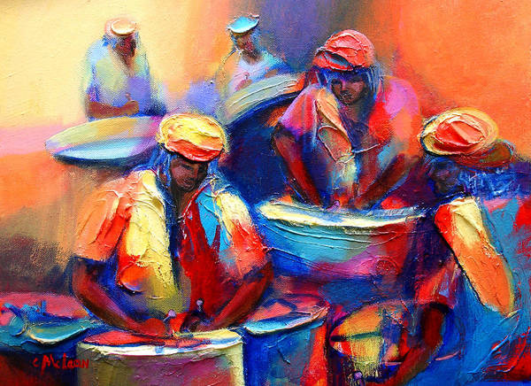 Carnival Painting - Colour Pan by Cynthia McLean