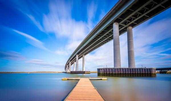 Photograph - Colour Wide River Bridge by Gary Gillette