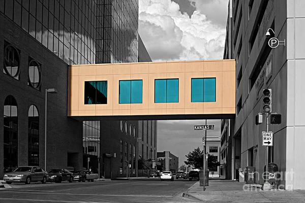 Downtown El Paso Photograph - Coloured El Paso  by Christian Hallweger