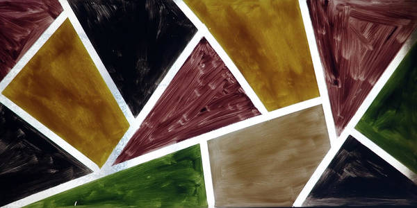 Coloured Glass Art Print
