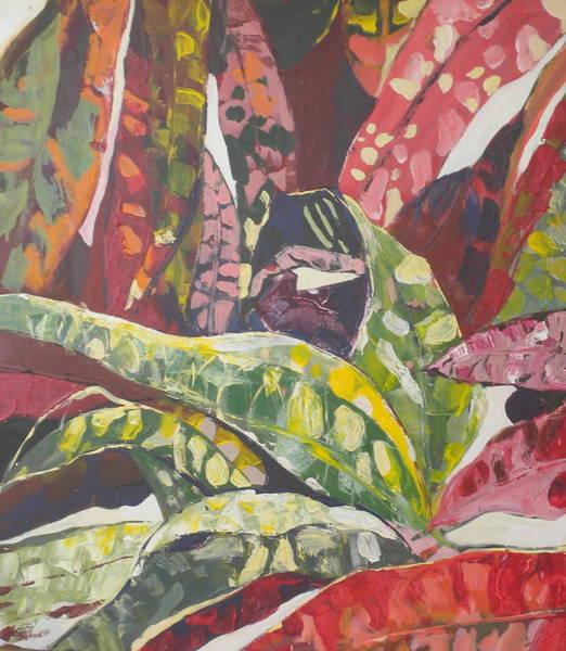 Caribbean Wall Art - Painting - Coloured Leaves by Jan Farara