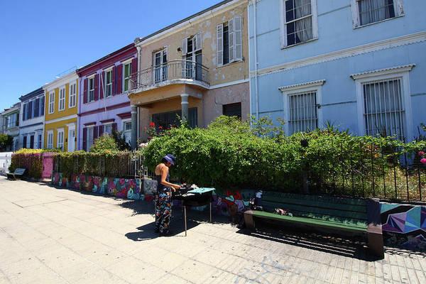 Photograph - Colourful Buildings In Valparaiso by Aidan Moran