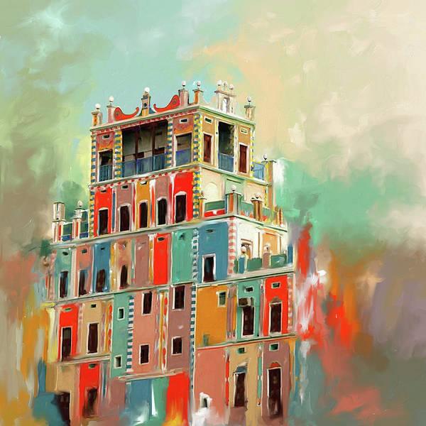 Wall Art - Painting - Colourful Buqshan Khaila Hotel 683 1 by Mawra Tahreem