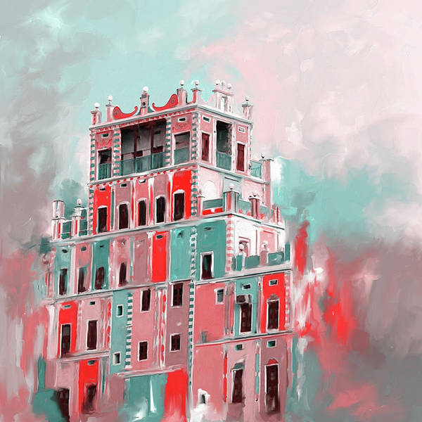 Wall Art - Painting - Colourful Buqshan Khaila Hotel 683 2 by Mawra Tahreem