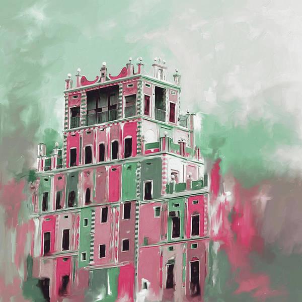 Wall Art - Painting - Colourful Buqshan Khaila Hotel 683 3 by Mawra Tahreem