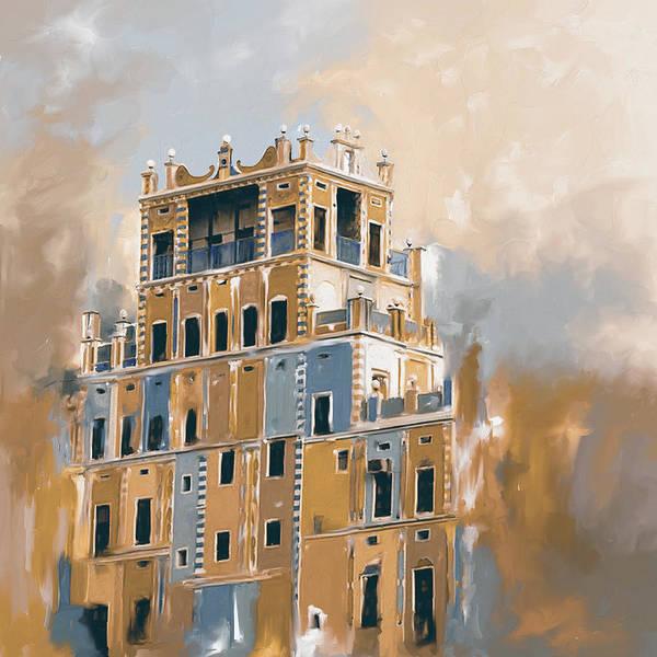 Wall Art - Painting - Colourful Buqshan Khaila Hotel 683 4 by Mawra Tahreem