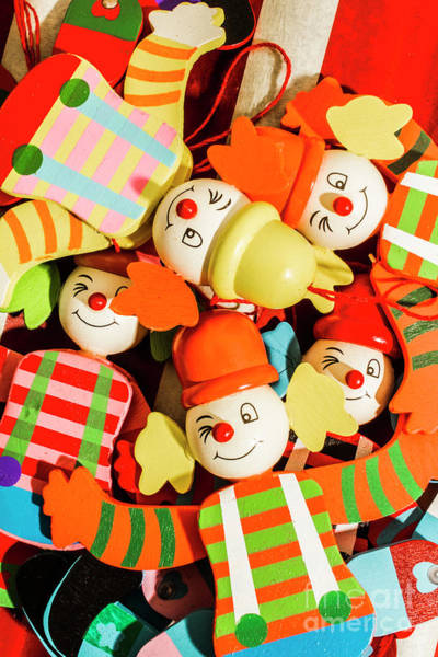 Pull Wall Art - Photograph - Colourful Character Clowns by Jorgo Photography - Wall Art Gallery