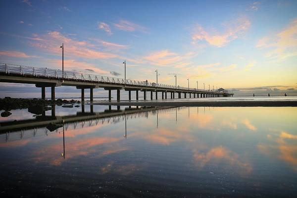 Photograph - Colourful Cloud Reflections At The Pier by Keiran Lusk