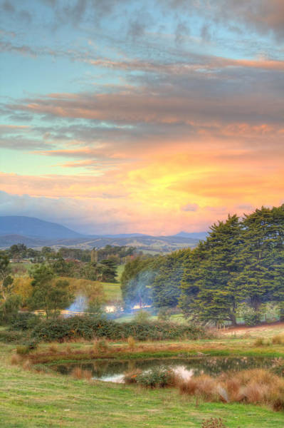 Photograph - Colourful Clouds At Sunset Yarra Glen 09-05-2015 by Bert Ernie