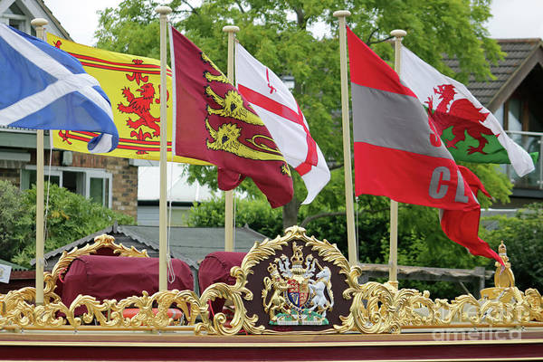 Photograph - Colourful Flags On Gloriana by Julia Gavin
