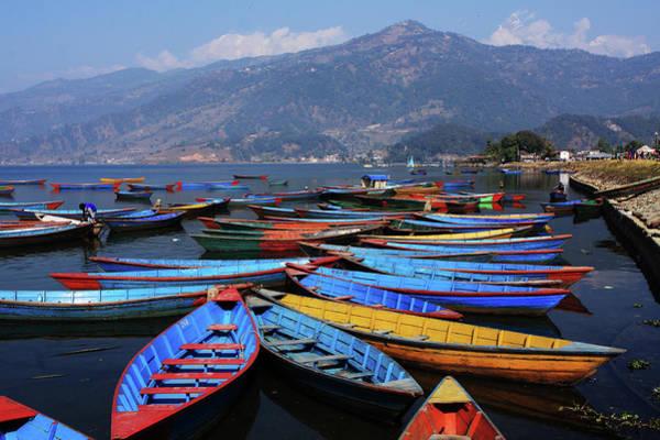 Photograph - Colourful Rowing Boats by Aidan Moran
