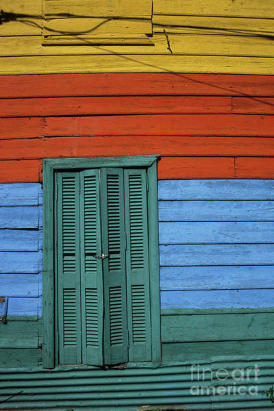Photograph - Colourful Shutters La Boca Buenos Aires by James Brunker