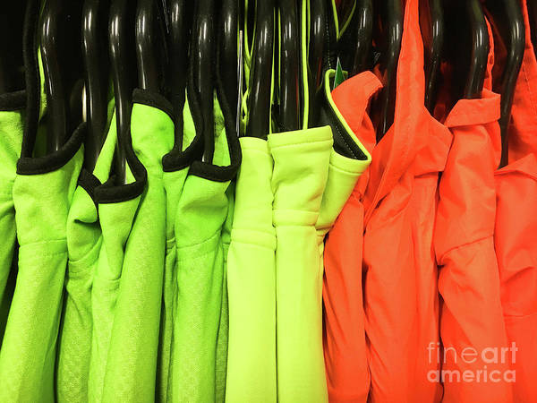 Protective Clothing Photograph - Colourful Sports Tops by Tom Gowanlock