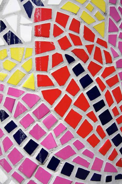 Photograph - Colourful Tile Motif  by Aidan Moran