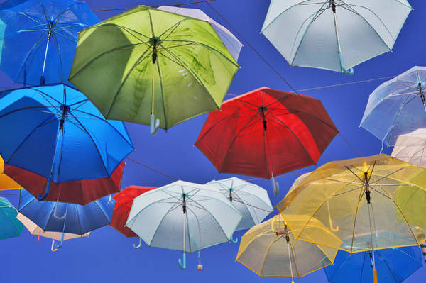 Photograph - Colourful Umbrellas by Lee Webb