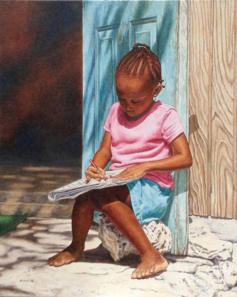 Painting - Colouring by Nicole Minnis