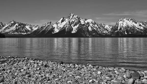Photograph - Colter Bay Beach Grand Teton Reflection by Dan Sproul