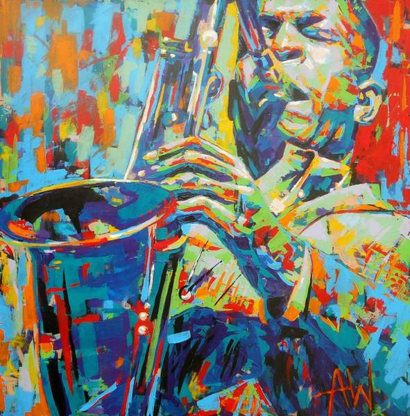 Wall Art - Painting - Coltrane by Angie Wright