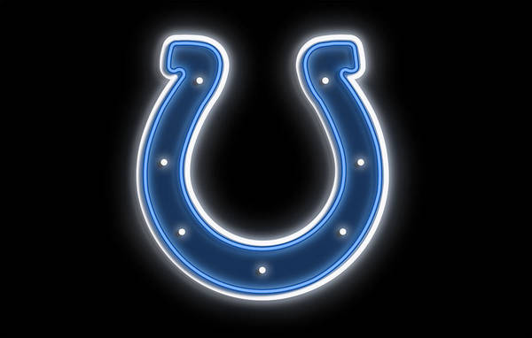 Horseshoe Digital Art - Colts Neon Sign by Ricky Barnard