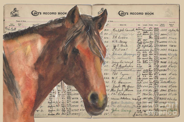 Painting - Colts Records Prince Dastan By Kmcelwaine by Kathleen McElwaine
