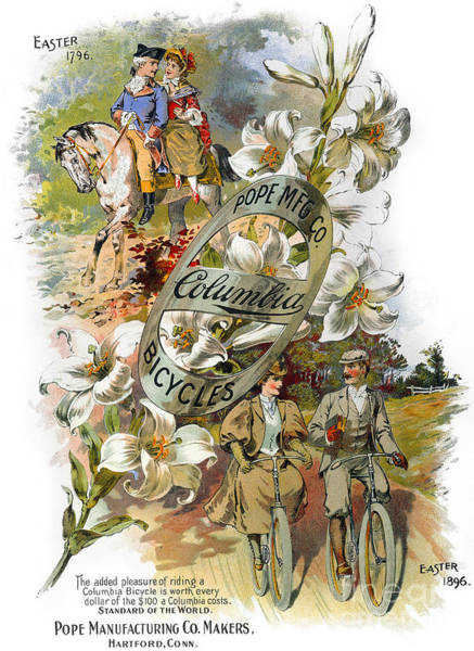 Photograph - Columbia Bicycles Poster by Granger