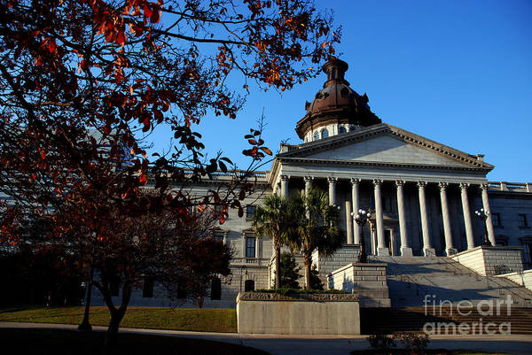 Photograph - Columbia Capitol Building In South Carolina by Susanne Van Hulst