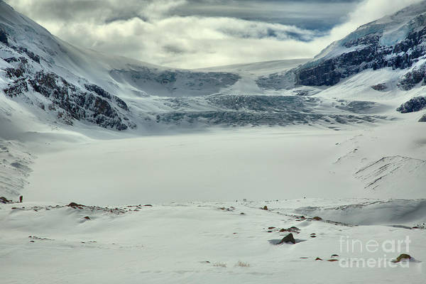 Photograph - Columbia Icefield Icy Blue Winter Views  by Adam Jewell
