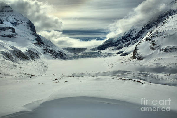 Photograph - Columbia Icefield Snowdrift Curves by Adam Jewell