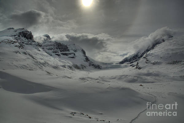 Photograph - Columbia Icefield Winter Sunburst by Adam Jewell