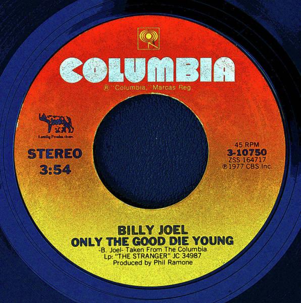 Wall Art - Digital Art - Columbia Records And Billy Joel by David Lee Thompson