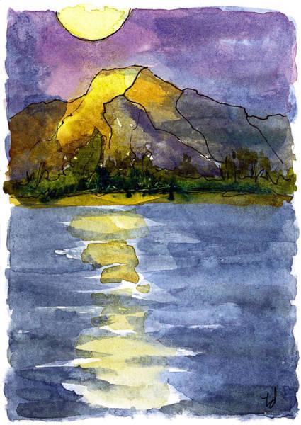 Columbia Sunset Art Print