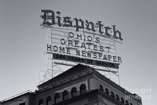 Photograph - Columbus Dispatch Roof Top Sign II by Clarence Holmes