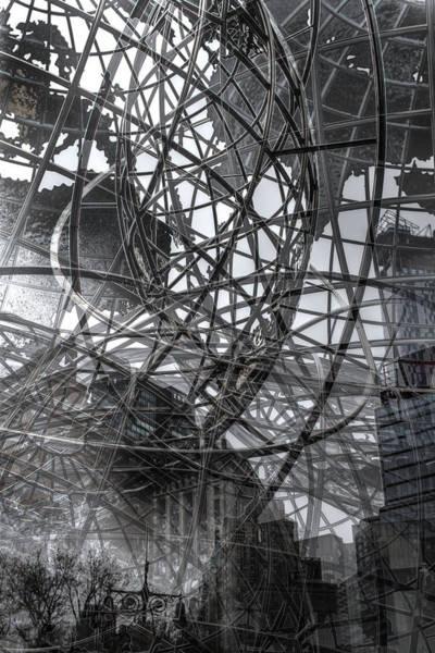 Photograph - New York - Columbus Circle Globe -  Collage by Dave Beckerman