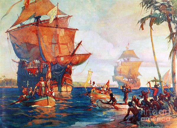 Photograph - Columbus: New World, 1492 by Granger