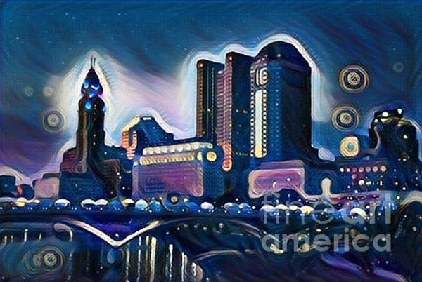Osu Digital Art - Columbus Night by Douglas Sacha