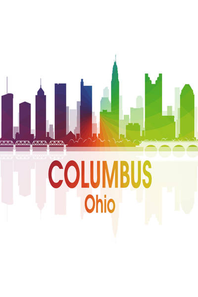 Wall Art - Digital Art - Columbus Oh 1 Vertical by Angelina Tamez