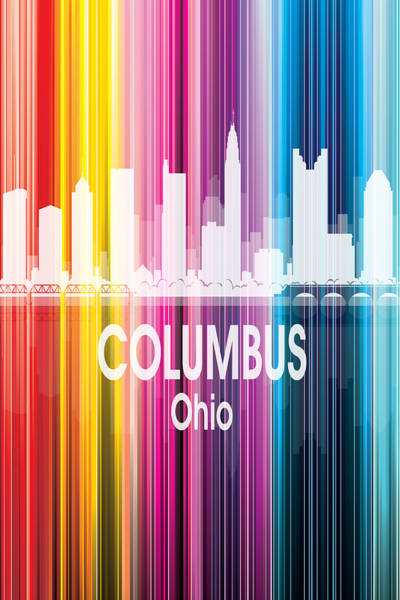 Wall Art - Digital Art - Columbus Oh 2 Vertical by Angelina Tamez