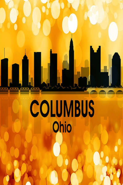 Wall Art - Digital Art - Columbus Oh 3 Vertical by Angelina Tamez